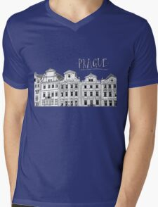 Prague. Mens V-Neck T-Shirt