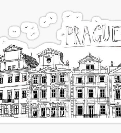Prague. Sticker