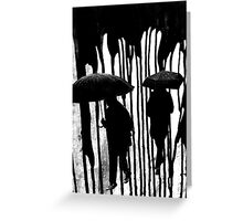 dark rain Greeting Card