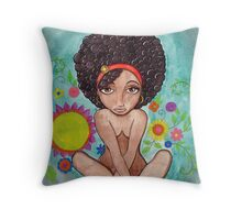 Inner Peace in Garden of Mind Throw Pillow