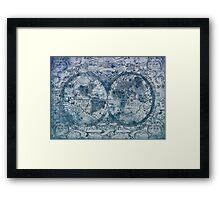 world map antique Framed Print