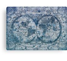 world map antique Canvas Print