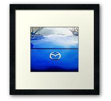 Blue Mazda RX-8 3 Framed Print
