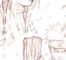 Naruto and Haku Sticker