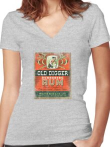 beer boy 1 Women's Fitted V-Neck T-Shirt