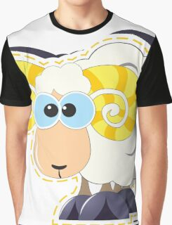 ram with yellow horns cartoon Graphic T-Shirt