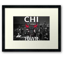 """Chicago Bulls """"Chi Town""""  Framed Print"""