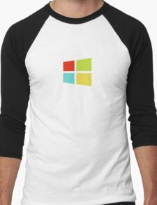 Windows 8 Modern Colour Logo (Larger) Men's Baseball ¾ T-Shirt