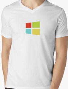 Windows 8 Modern Colour Logo (Larger) Mens V-Neck T-Shirt