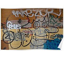 Abstract Graffiti on the Garage Door Poster