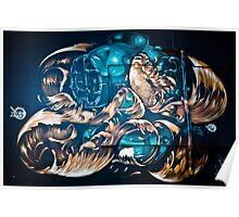 Fish and Batiscaf Graffiti  Poster