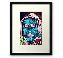 Welcome to Jolly Hallucinogenic 1969. Skull Graffiti  Framed Print