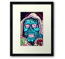 Welcome to Jolly Hallucinogenic 1969. Skull Graffiti  Framed Print
