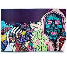 Jolly Hallucinogenic 1969 Graffiti with a Skull and the Others Poster