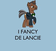 I Fancy De Lancie (Black Text) Unisex T-Shirt