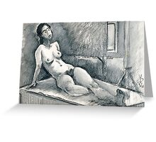 Marie Lise As Odalisque Greeting Card