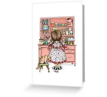 wind up mouse Greeting Card