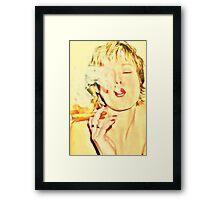 The girl next door Framed Print
