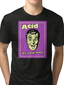 Funny Retro Acid Ad Tri-blend T-Shirt