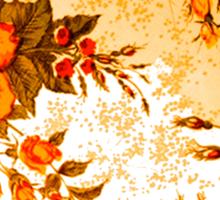 Orange Rose Moon Sticker