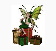 Christmas Fairy Elf Boy Sitting on a Pile of Presents Unisex T-Shirt