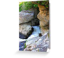 Linville Falls, North Carolina, U.S.A. Greeting Card