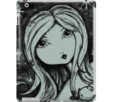 Saschia Sparkleberry - Black and White iPad Case/Skin