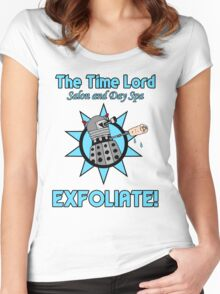 The Time Lord Salon and Day Spa Women's Fitted Scoop T-Shirt