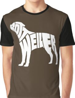 Rottweiler White Graphic T-Shirt
