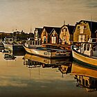 Lobster Boats - Evening Light by Wib Dawson