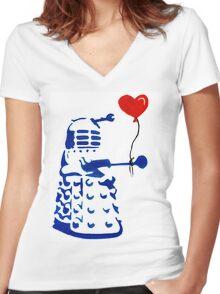 Dalek Love Tee Women's Fitted V-Neck T-Shirt