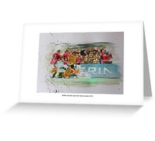 British and Irish Lions Test winners 2013 Greeting Card