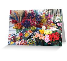 Flowers in Lisbon Town Center Greeting Card
