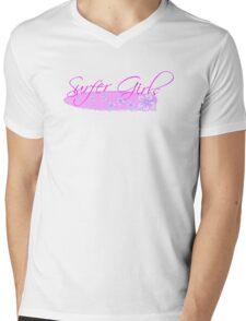 Surfer Girls Hibiscus Mens V-Neck T-Shirt
