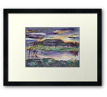 The River at Dusk Framed Print