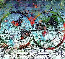 world map antique 3 by BekimART