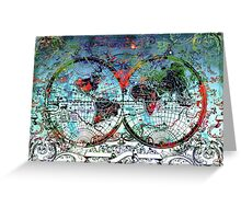 world map antique 3 Greeting Card