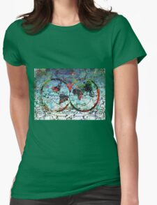 world map antique 3 Womens Fitted T-Shirt