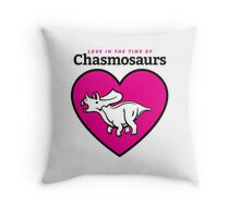 Love in the Time of Chasmosaurs logo: full color Throw Pillow