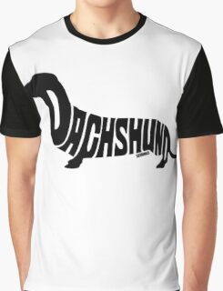Dachshund Black Graphic T-Shirt