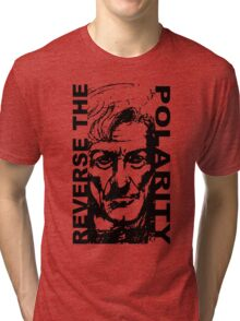 REVERSE THE POLARITY – The Third Doctor Tri-blend T-Shirt