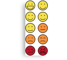 A scale of 1 to 10 - emoticons Canvas Print