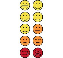 A scale of 1 to 10 - emoticons Photographic Print