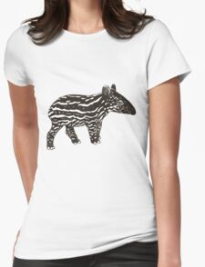 Baby Tapir Womens Fitted T-Shirt