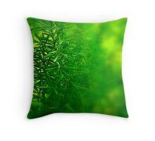Green Piece Throw Pillow