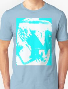 Abstract brush face - blue T-Shirt