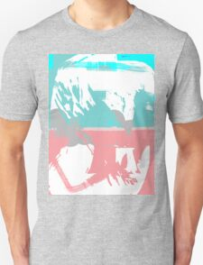Abstract brush face - blue/pink T-Shirt