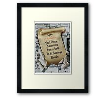 1946 Resolution - That every American buy and hold U.S. savings bonds Framed Print
