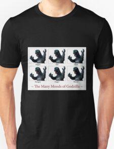 The Many Moods of Godzilla T-Shirt