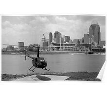 Cincinnati Ohio City Scape Poster